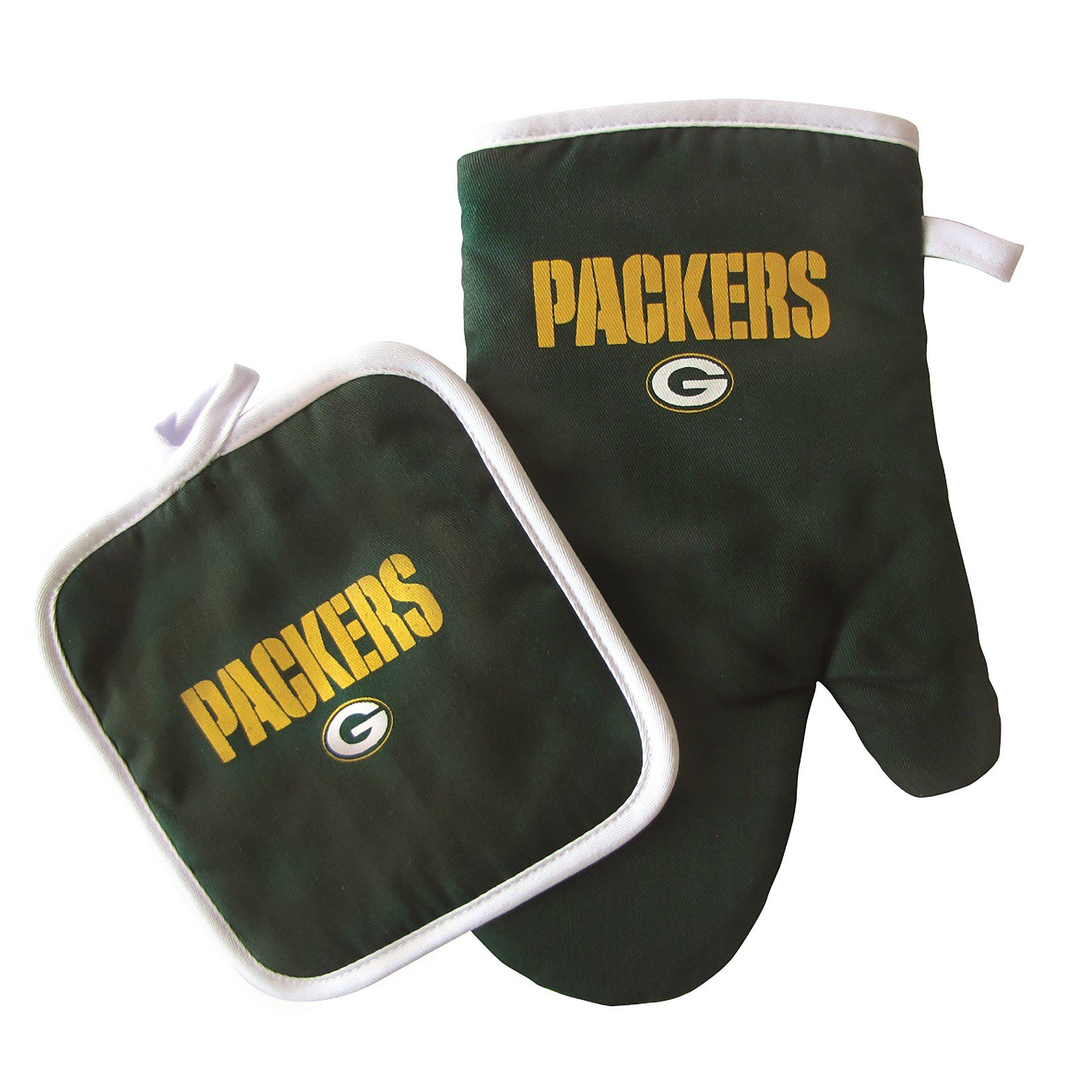 NFL Green Bay Packers Logo Oven Mitt & Pot Holder, One Size, Green