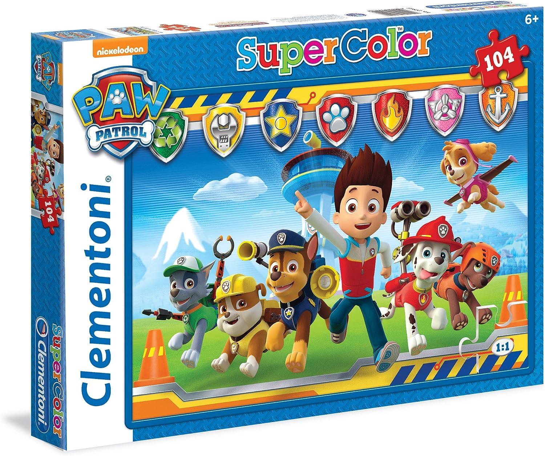 Clementoni Super color - Patrulla canina Puzzle, 104 piezas , color/modelo surtido