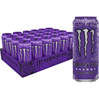 Monster Energy Ultra Violet, Sugar Free Energy Drink, 16 Ounce (Pack of 24)
