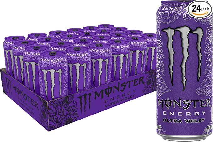 Monster Energy Ultra Violet, Sugar Free Energy Drink, 16 Ounce (Pack of 24): Amazon.com: Grocery & Gourmet Food