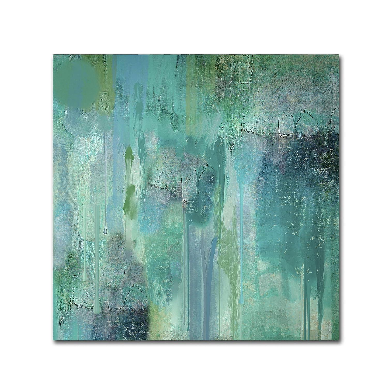 Trademark Fine Art Aqua Circumstance II Wall Decor by Color Bakery, 14-Inch X 14-Inch ALI0719-C1414GG