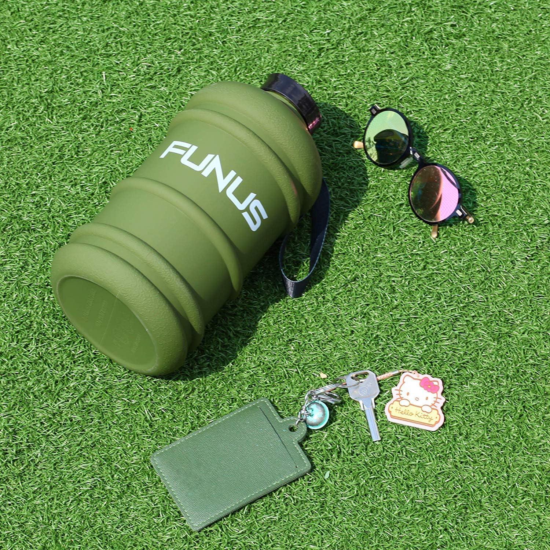 sans BPA Bouteille deau r/éutilisable pour la Salle de Sport Grande Bouteille deau de 2,7 l avec marquage du Temps