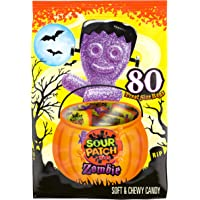 Sour Patch Kids Zombie Halloween Trick or Treat Size Candy Packages, sour ,80 Count(Pack of 1)