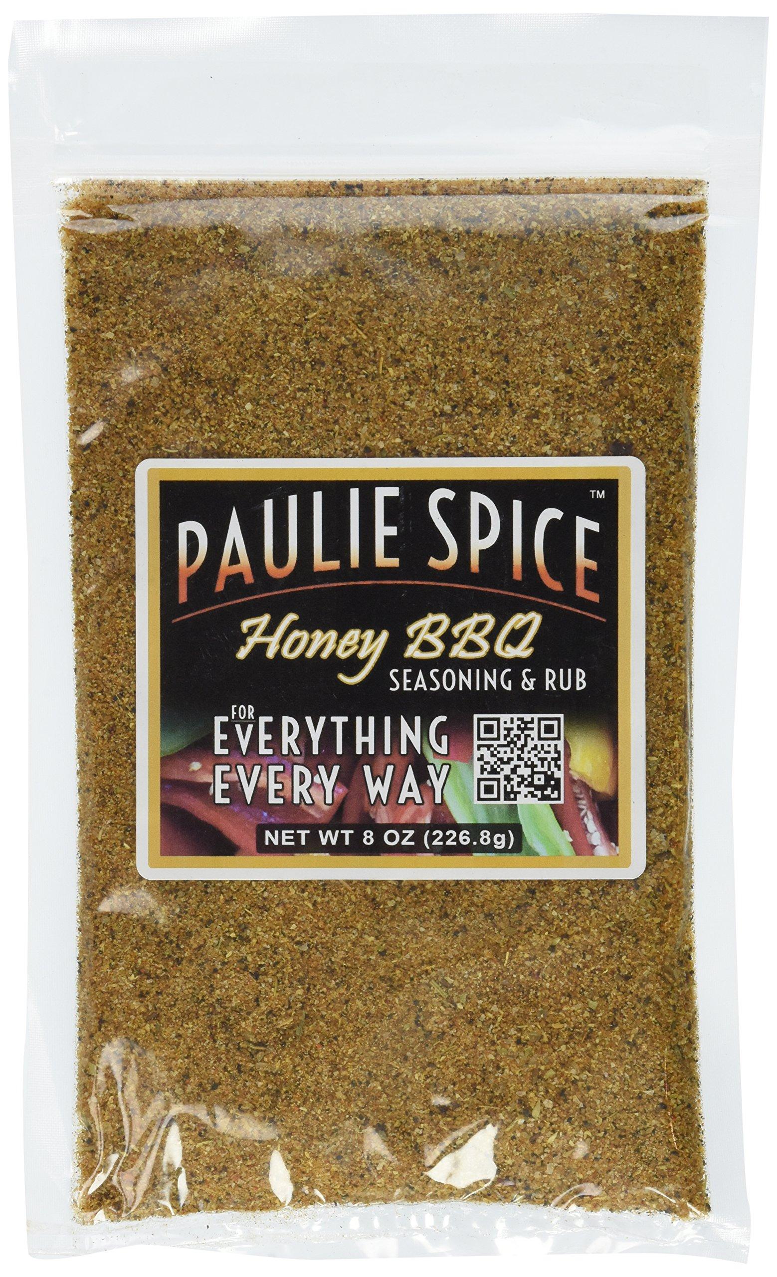 Paulie Spice : Sweet Honey BBQ Gourmet Seasoning and Rub For: Meat, Ribs, Rib, Chicken, Pork, Steak, Wings, Turkey, Prime Rib, Fish, Seafood, Grill, Grilling, Barbecue, Smoker, Dry, Rubs, Seasonings