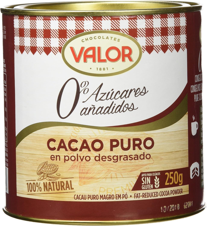 Chocolates Valor - Cacao Puro En Polvo Desgrasado - 250 g - [pack ...