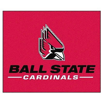 FANMATS NCAA Ball State University Cardinals Nylon Face Tailgater Rug 4288