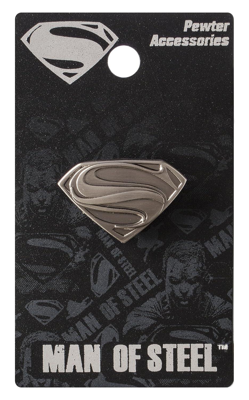 DC Superman Man of Steel Logo Pewter Lapel Pin Monogram International 45179