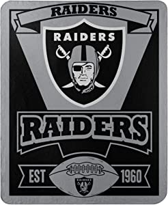 """The Northwest Company Officially Licensed NFL Marque Printed Fleece Throw Blanket, 50"""" x 60"""", Team Color"""