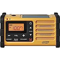 Sangean MMR-88 AM/FM/Weather, Alert Emergency Radio, Solar/Hand Crank/USB/Flashlight, Siren, Smartphone Charger