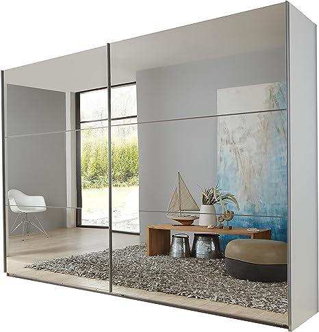 Wimex 974806 Armario de Puertas correderas, 270 x 210 x 65 cm, Estructura Color Blanco/Frontal Espejo: Amazon.es: Hogar