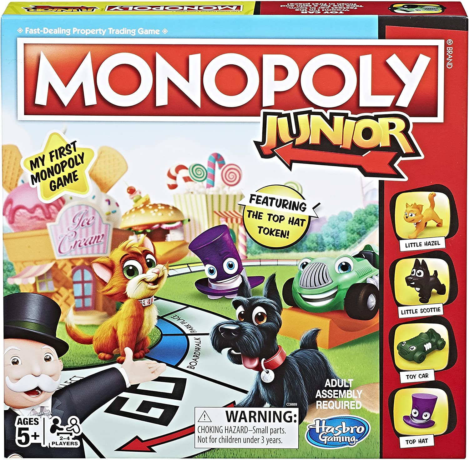 Monopoly Junior board game for reading fluency
