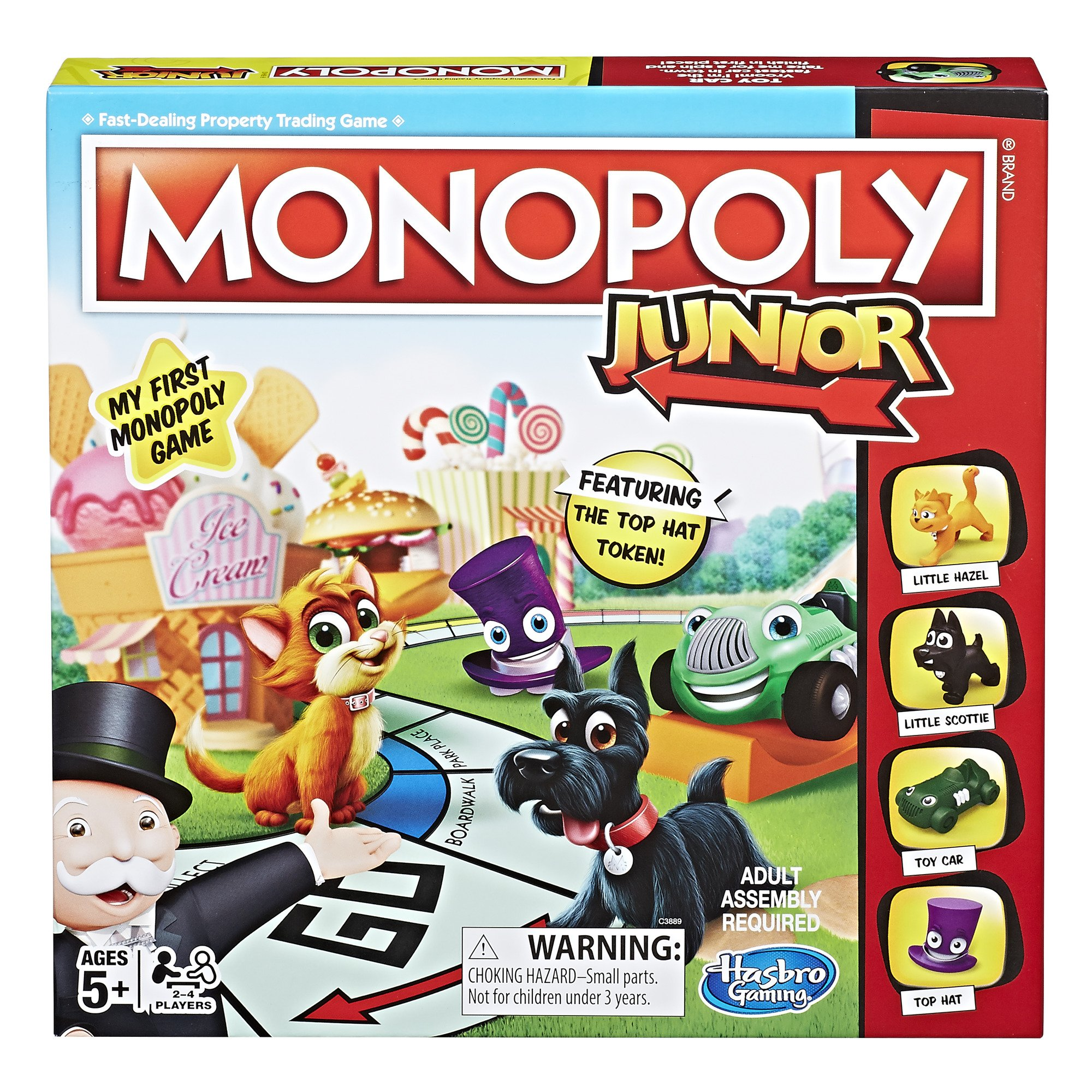 Hasbro Monopoly Junior Board Game, Ages 5 and up (Amazon Exclusive) by Hasbro Gaming