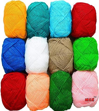 vardhman bunny 12 pc combo wool ball hand knitting yarn art craft