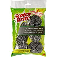 Scotch-Brite Stainless Steel Spiral, 6 pieces