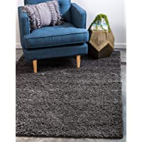 Deals on Unique Loom Solo Solid Shag Collection Modern Plush Rug 3-ftx 5-ft