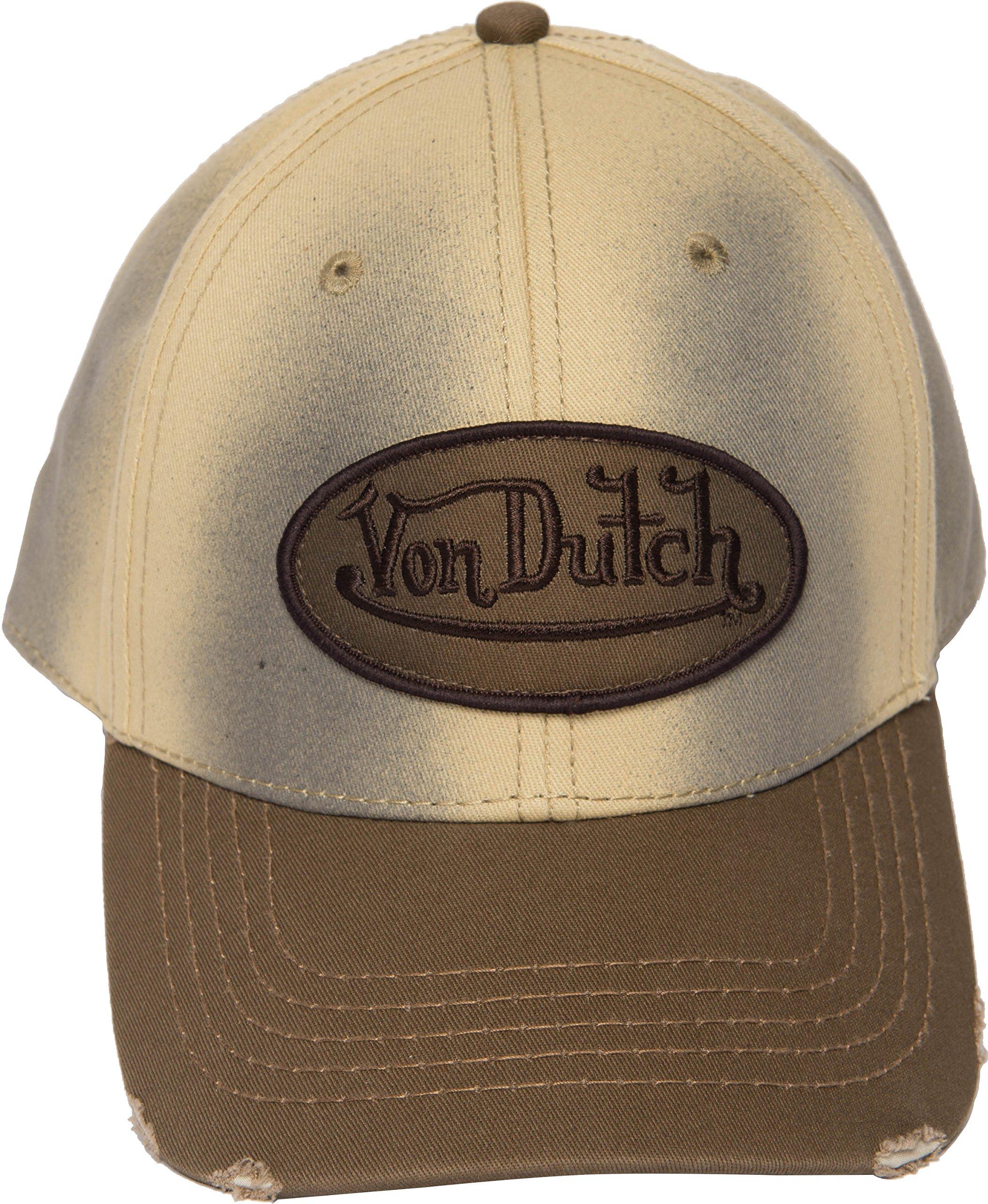 Von Dutch VDHT136 Dad Distressed Baseball Cap Vintage Style with Different Colorways (Creamy) by Von Dutch (Image #2)