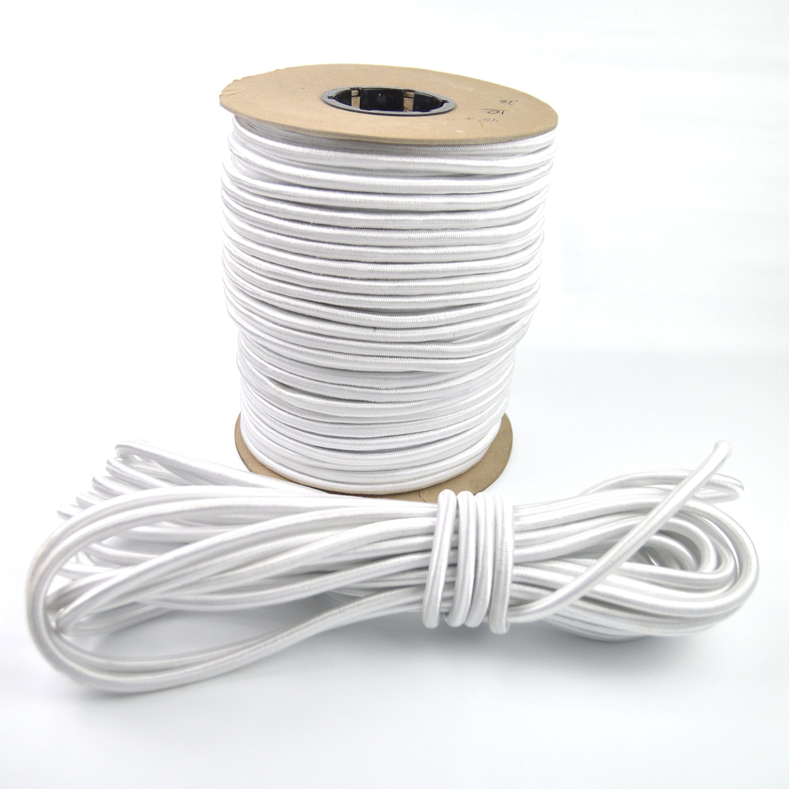Marine Masters 3/8'' White Bungee Shock Cord SOLD BY THE FOOT