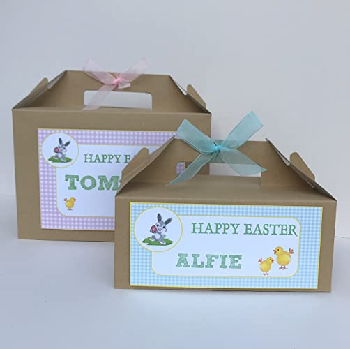 Personalised childrens easter egg gift box happy easter egg hunt personalised childrens easter egg gift box happy easter egg hunt party treat box negle Choice Image