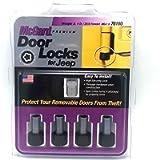 McGard Door Pin Lock, 6 mm x 1 Thread, 1/4 in Drive Key Included, Steel, Zinc/Black Oxide, 2 Door, Jeep Wrangler JL 2018…