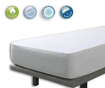Velfont Velamen Protector de colchón Impermeable Transpirable para Cuna, Color Blanco: Amazon.es: Hogar