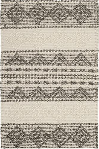 Safavieh NAT102A-2 Natura Collection Handmade and Ivory Wool Area Rug