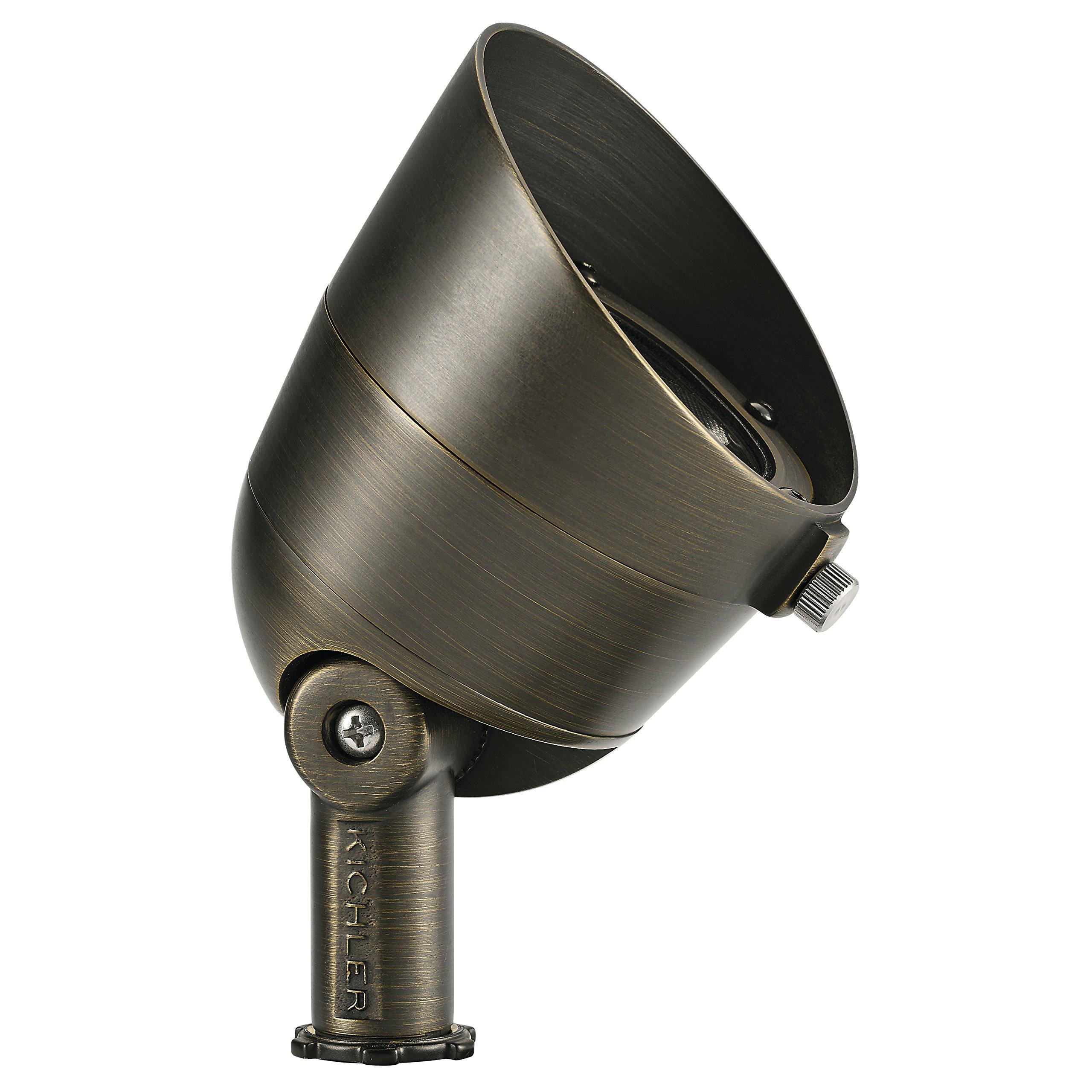 Kichler 16152CBR27 Landscape LED Accent, 3-Light 7.5 Total Watts, Centennial Brass