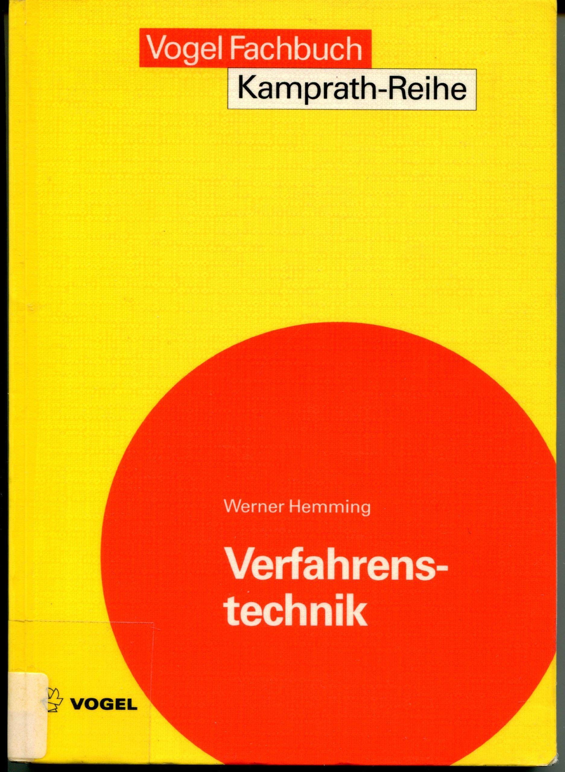 Verfahrenstechnik (Kamprath-Reihe)