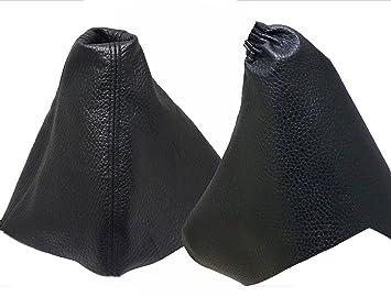 Para OPELASTRAH Modelos 2004 a 2010 Funda para Palanca de Cambio y Freno 100% Piel Color Negro