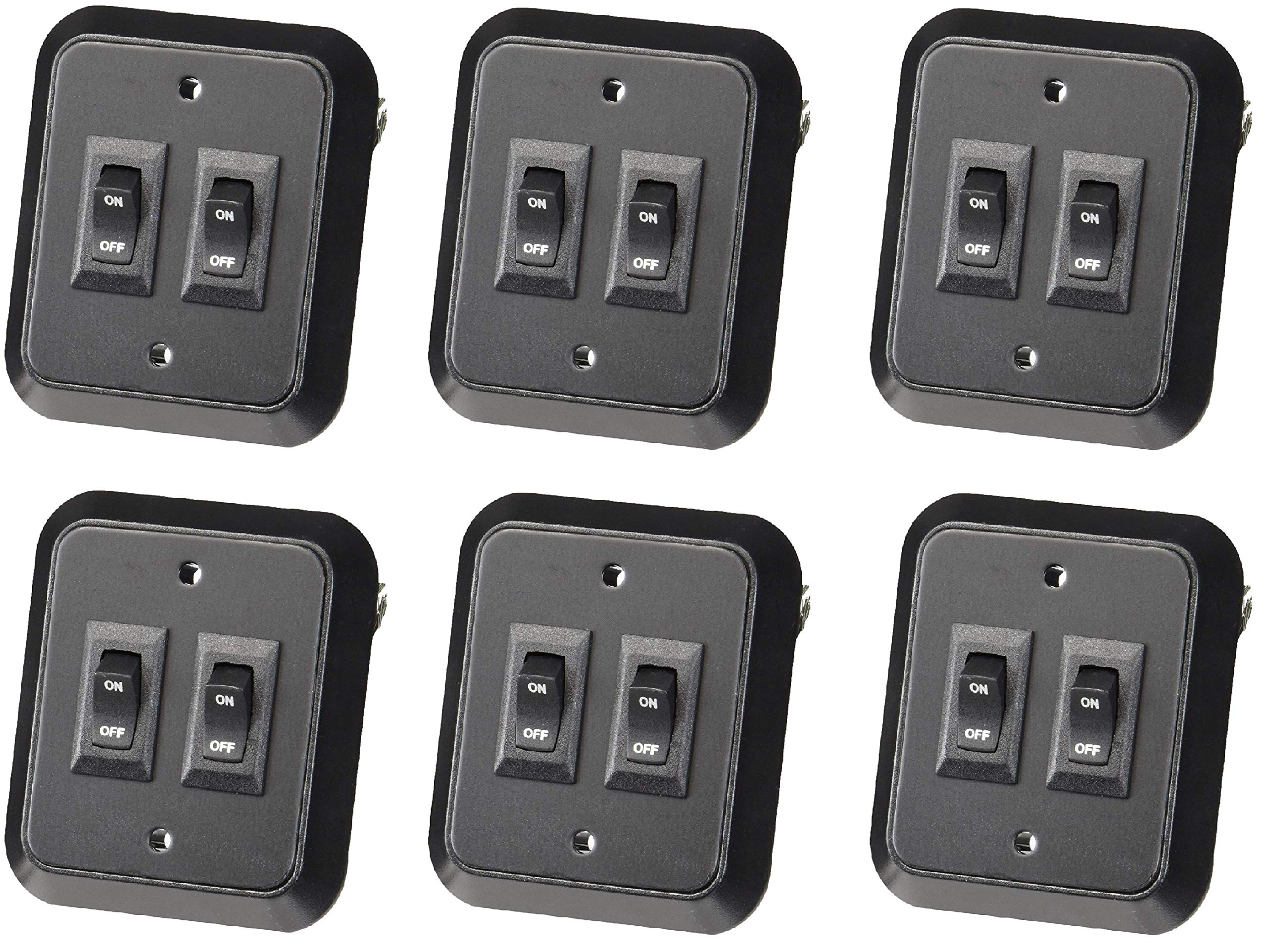 JRV Products A8977RBL Rocker Switch (6 Pack)