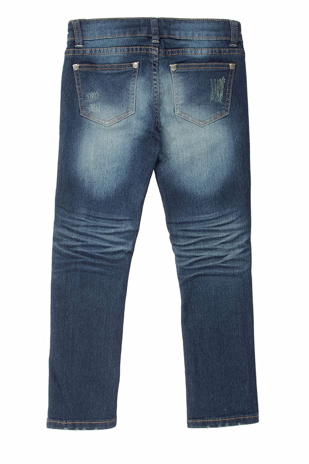 S Fashion2Love 8H016 Super Stretch 5 Pockets Distressed Skinny Jeans for Girls