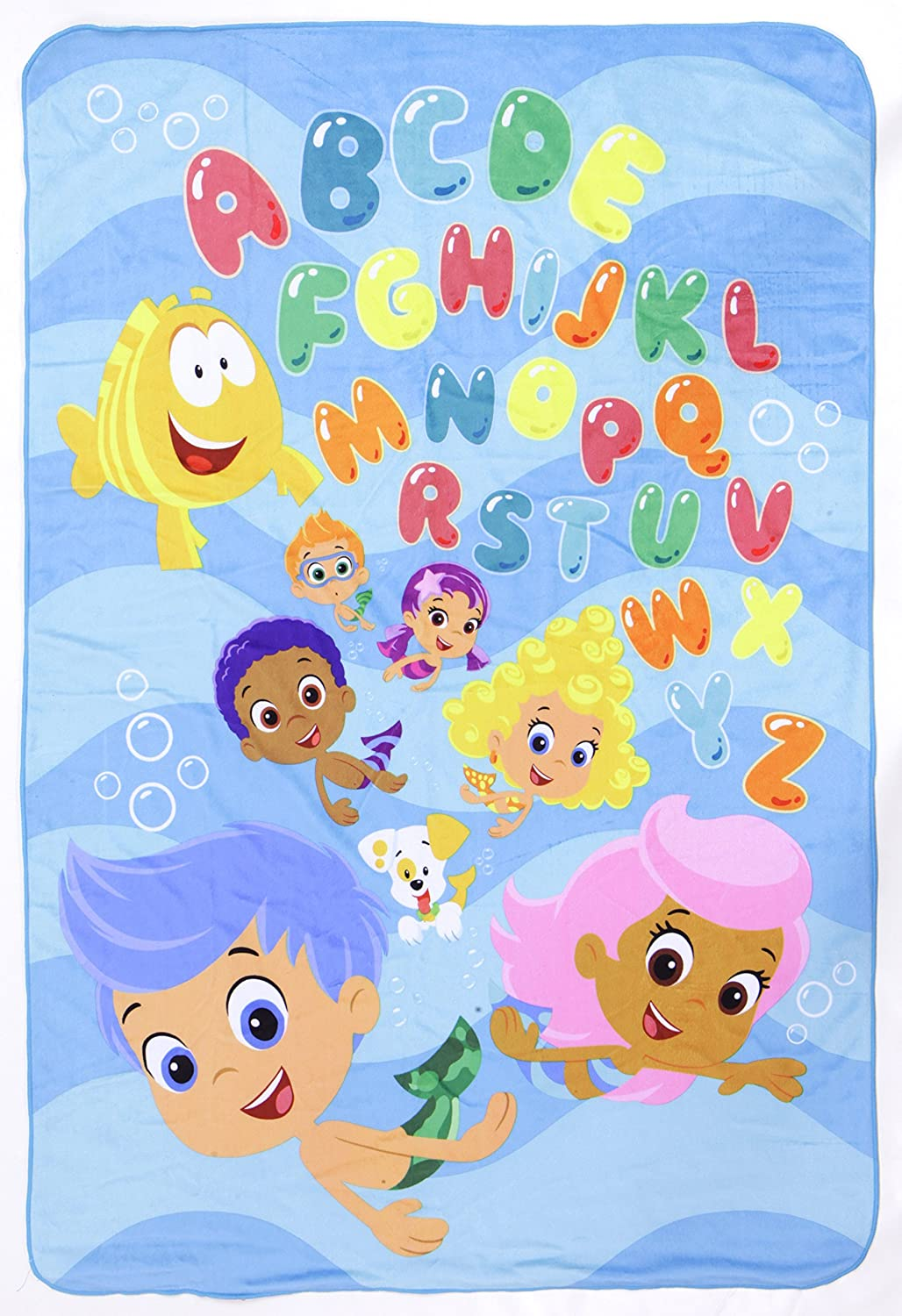Nickelodeon bubble guppies ultra soft toddler blanket amazon baby amipublicfo Images