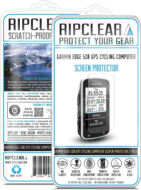 Ripclear Garmin Edge 520 Cycling Computer GPS Screen Protector Kit: Amazon.es: Electrónica