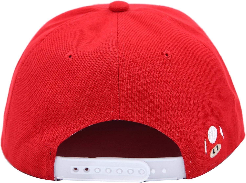 Gorra Snapback de Pico Plano Mario Rojo (Mario Snapback Cap ...