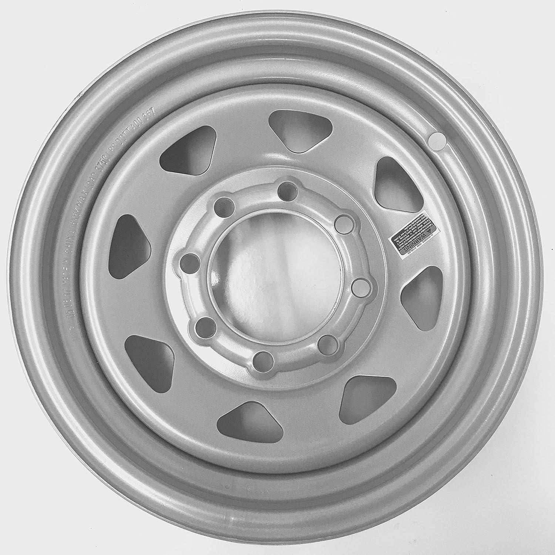 X 6 in 8 Lug Black Steel Rim Wheel eCustomrim Trailer Wheel 16 in