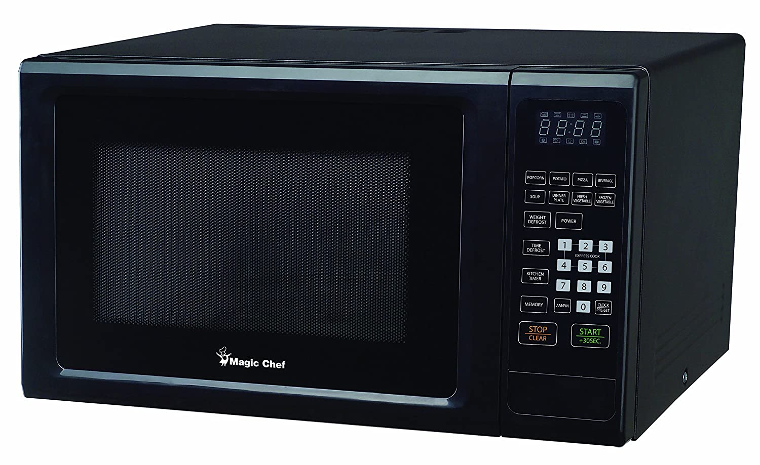 Magic Chef MCM1110B 1.1 Cu. Ft. 1000W Countertop Microwave Oven with Push-Button Door in Black