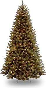 National Tree Company Pre-lit Artificial Christmas Tree | Includes Pre-strung White Lights and Stand | North Valley Spruce - 7.5 ft
