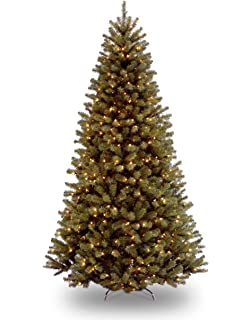 National Tree 7.5 Foot North Valley Spruce Tree With 550 Clear Lights,  Hinged (NRV7