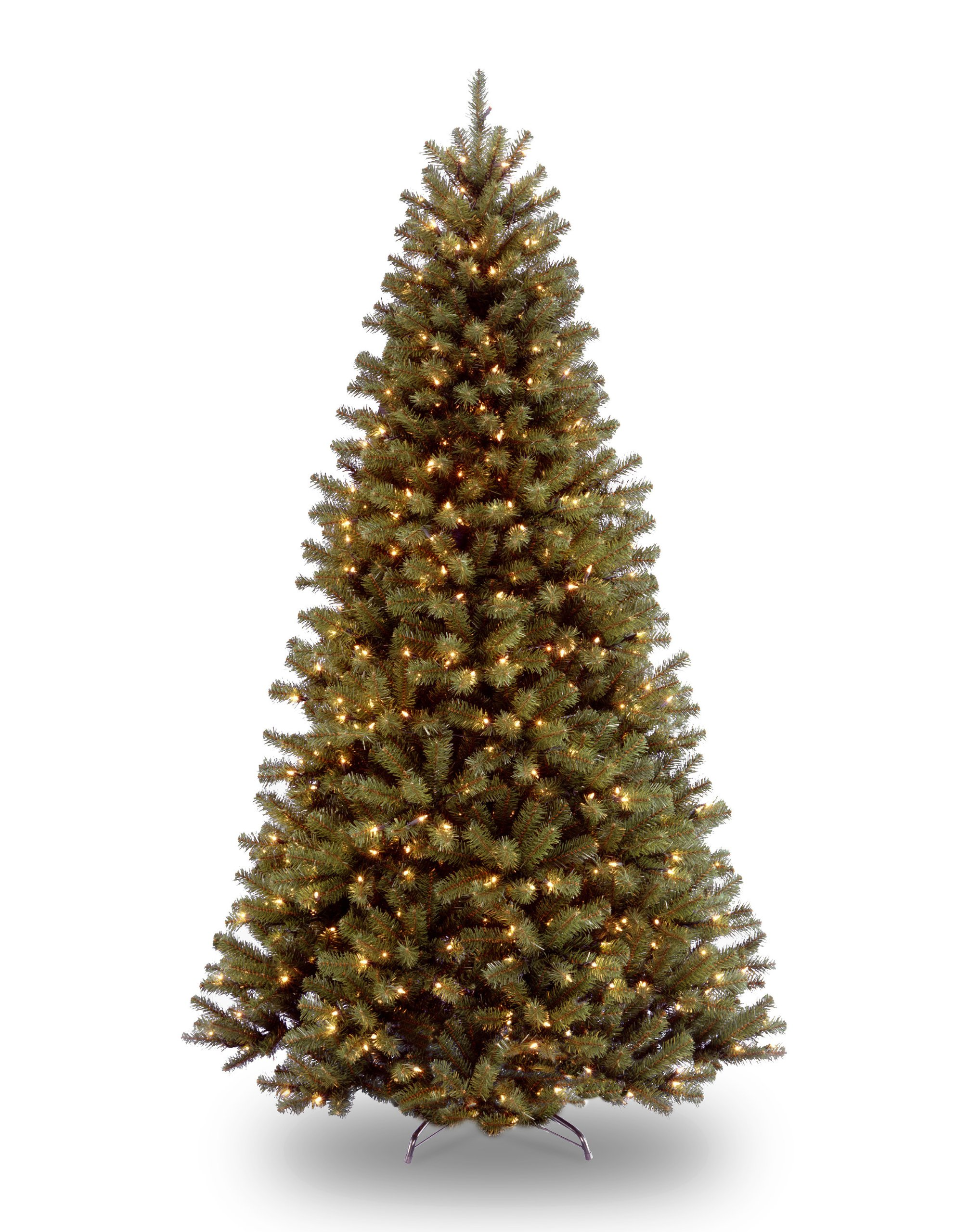 National Tree 7.5 Foot North Valley Spruce Tree with 550 Clear Lights, Hinged (NRV7-300-75) by National Tree Company
