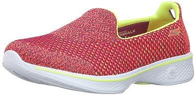 154f63c4 Skechers Women's Gowalk 4 Kindle Slip On Walking Shoe,Pink/Lime,US 7 ...