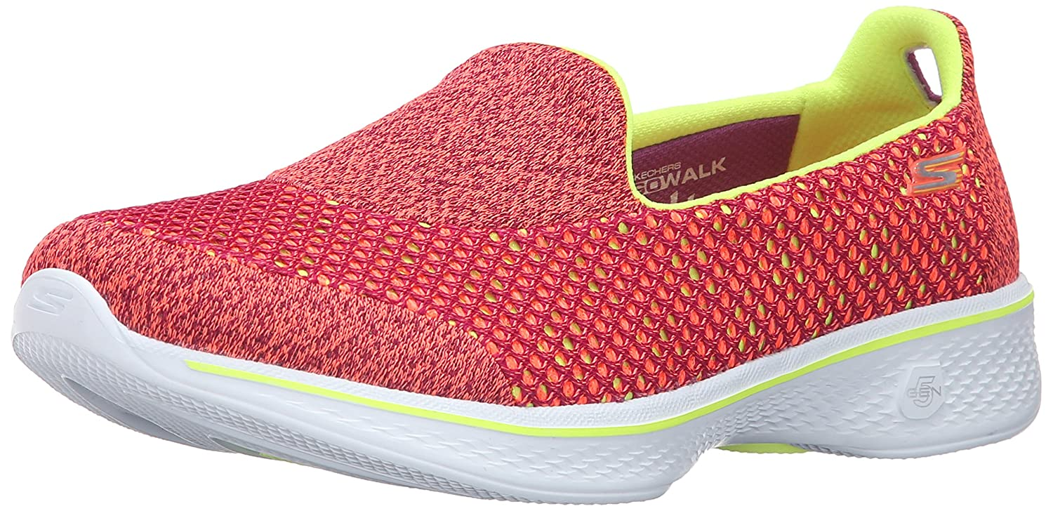 Skechers Performance Women's Go Walk 4 Kindle Slip-On Walking Shoe B01AH05G5Q 9 B(M) US|Pink/Lime