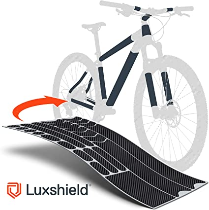 Vélo Cadre Protection Set Carbone bleu film v2 Autocollant MTB BMX Lackschutz