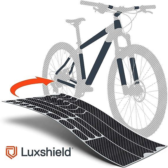 Luxshield Película Protectora de Pintura para Bicicleta Electrica, BMX, Carretera, Trekking, etc. - Conjunto para Cuadro de 20 Piezas contra Golpes de Piedras: Amazon.es: Deportes y aire libre