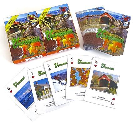 Amazon.com: Vermont souvenir Juego de cartas con varias ...