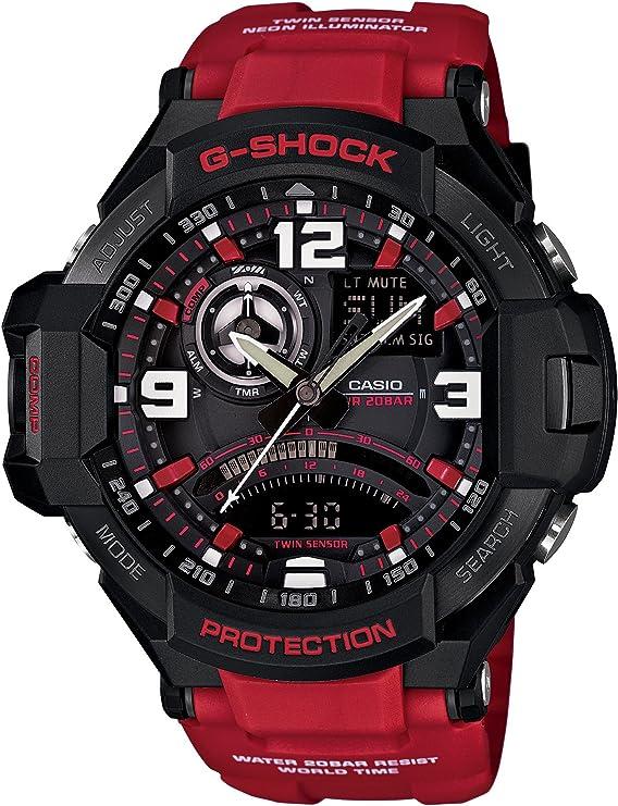 [カシオ] 腕時計 ジーショック SKY COCKPIT 方位・温度センサー搭載 GA-1000-4BJF レッド