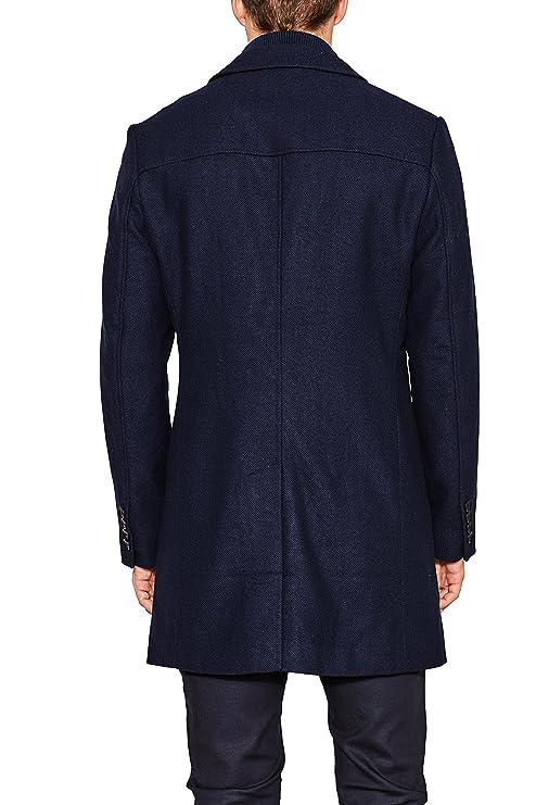 107eo2g008, Abrigo para Hombre, Azul (Navy 400), Small (Talla del fabricante: 46) Esprit