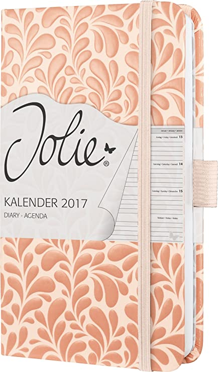 Sigel J7304 - Agenda semanal Jolie 2017 de A6 con tapa dura con diseño Melon Splash