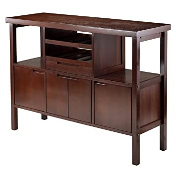 Beautiful Winsome Diego Buffet/Sideboard Table, Brown