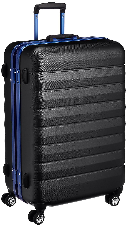 [サンコー] RUDDER スーツケース ラダー 双輪キャスター 大型 カラーフレーム 容量87L 縦サイズ74.5cm 重量5.5kg RD01-68 B01CQ7547S ブラック ブラック