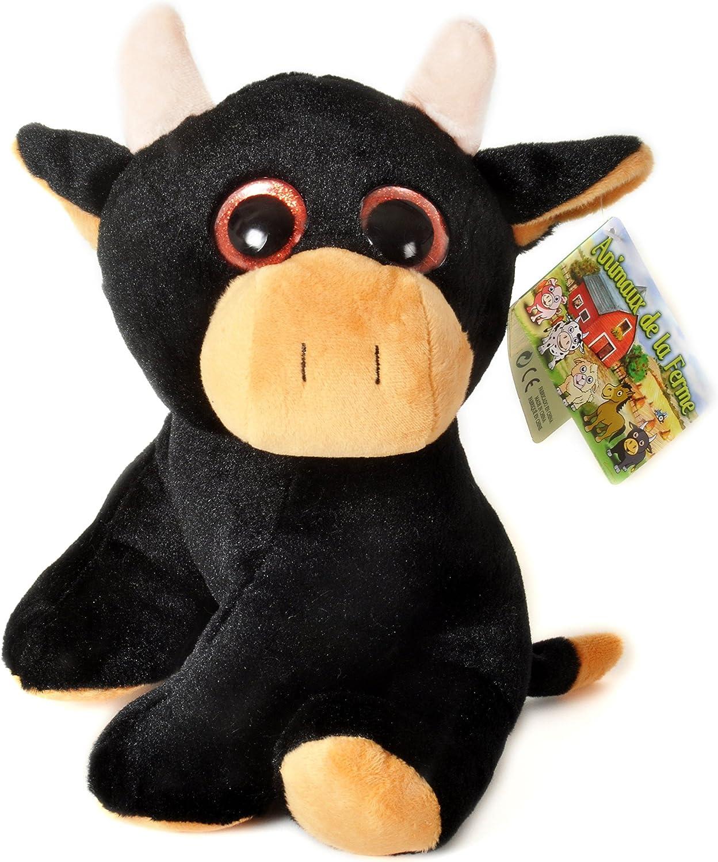 Animales de la Granja - Peluche Toro con ojos brillantes (10