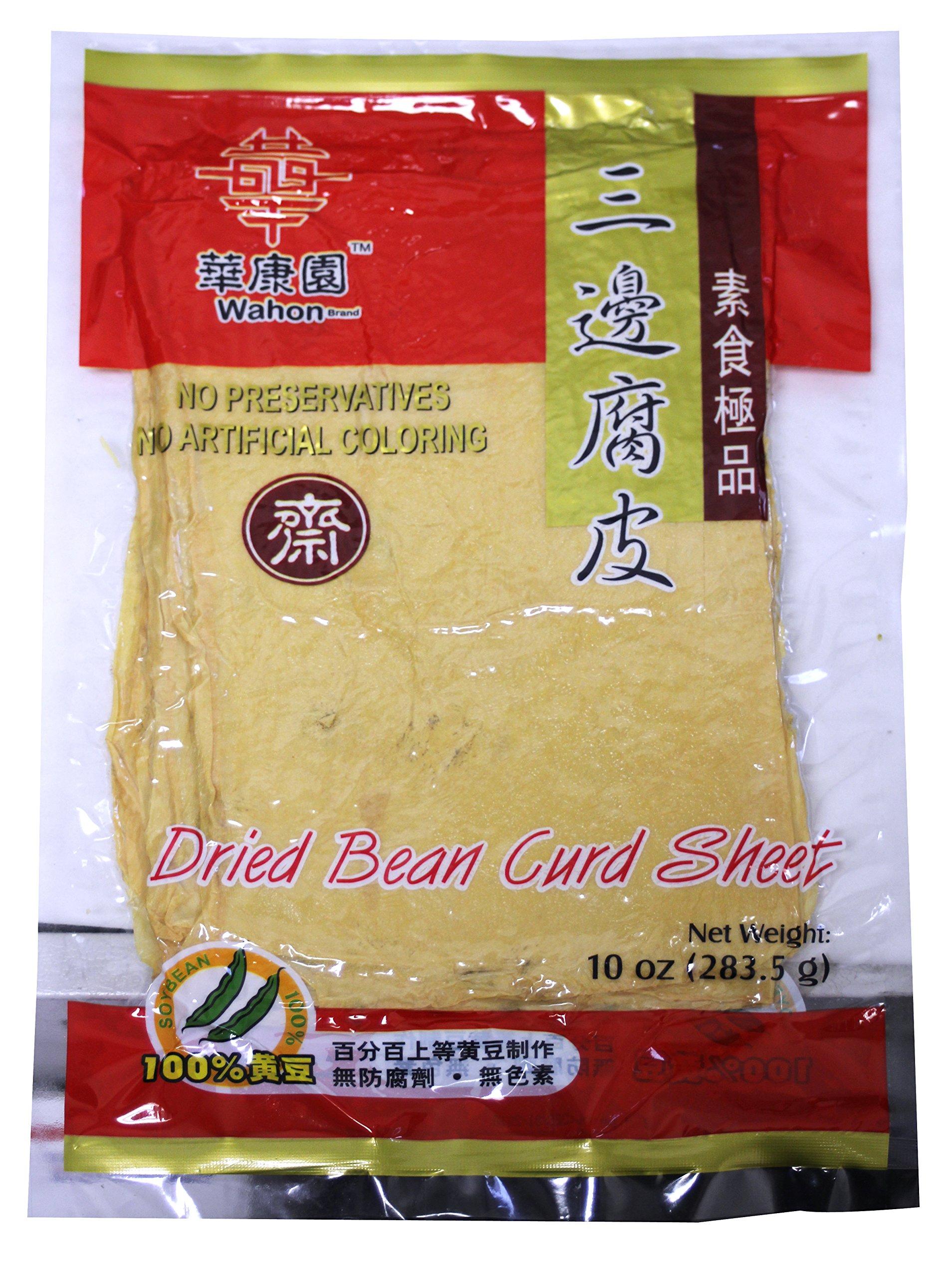 三邊腐竹 All Natural Dried soy Bean Curd (ToFu) Sheet - 10oz (Pack of 3) …